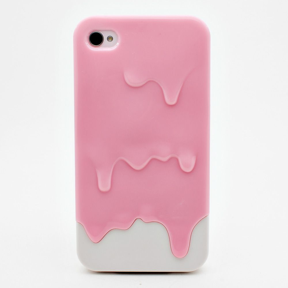 Image of paint dripping iphone 4/4s case pink and white cute ...