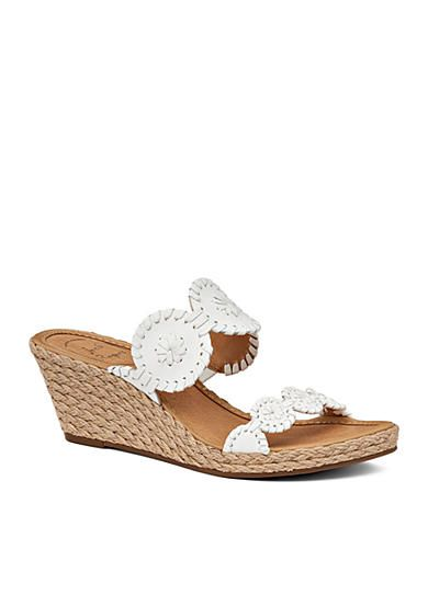 1fc753a42035 Cute and comfortable Jack Rogers. The white Shelby Wedge Sandal will match  with all of your summer outfits.