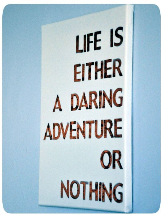 Diy travel quote canvas by pinterest quote canvas viola and take your letter stencils and temporarily secure them to the canvas spray paint over with a color that will not clash with the spiritdancerdesigns Image collections