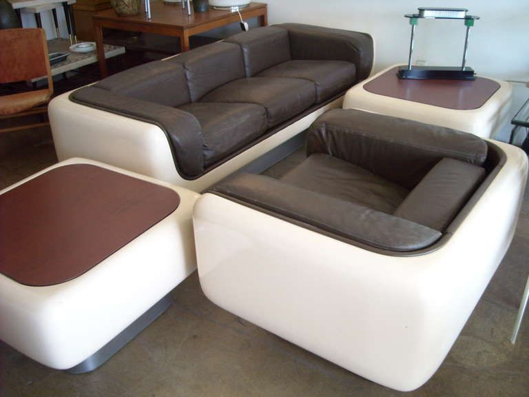 Steelcase Sofa Platner Kmart Sofas Suite 4 Pieces Fiberglass Armchair And 2 Tables Style Image 3