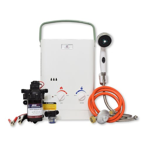 1 5 Lpm Liquid Propane Tankless Water Heater With Pump And Strainer 30 Mbar Eccotemp Tankless Water Heater Water Heater Solar Panels
