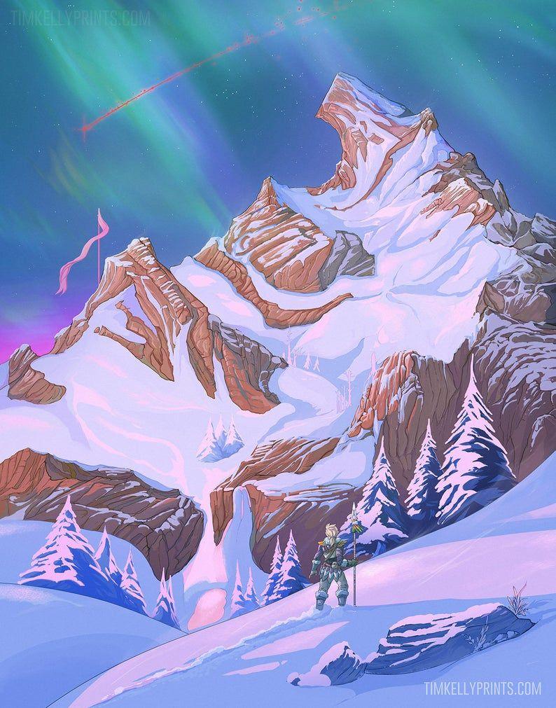 Hebra Peak Artwork Print The Legend Of Zelda Breath Of The Wild Fanart In 2021 Legend Of Zelda Legend Of Zelda Breath Legend Of Zelda Memes