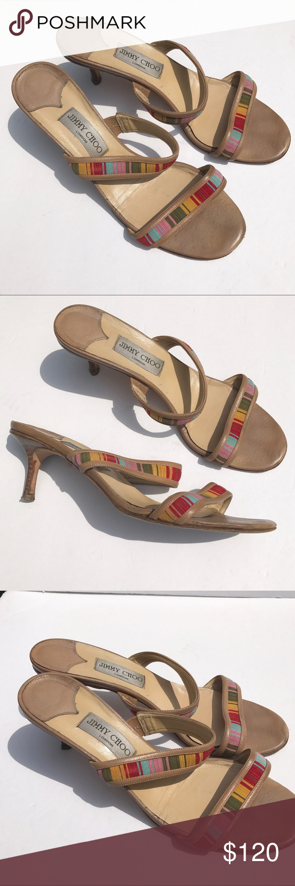 c1be9cdd72a JIMMY CHOO Aztec heels sandals 41 shoes 10 11 pretty JIMMY CHOO Sandals in  a size 41. Pre-owned. Jimmy Choo Shoes Heels