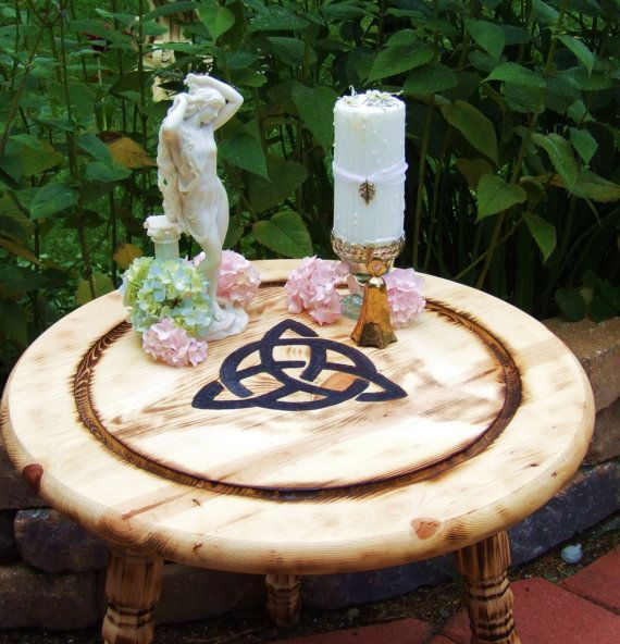 Halloween Wedding Altar: Triquetra Altar Table