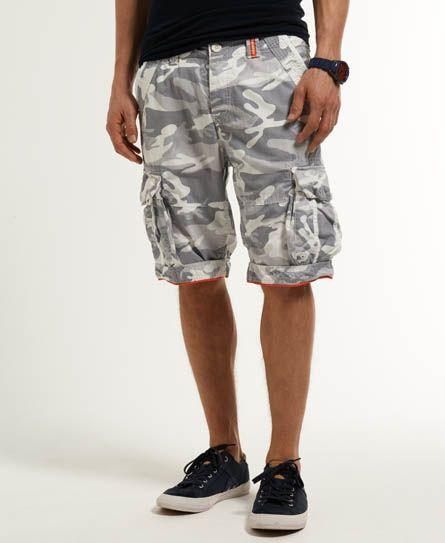 Mens - Camo Ripstop Shorts in White Camo