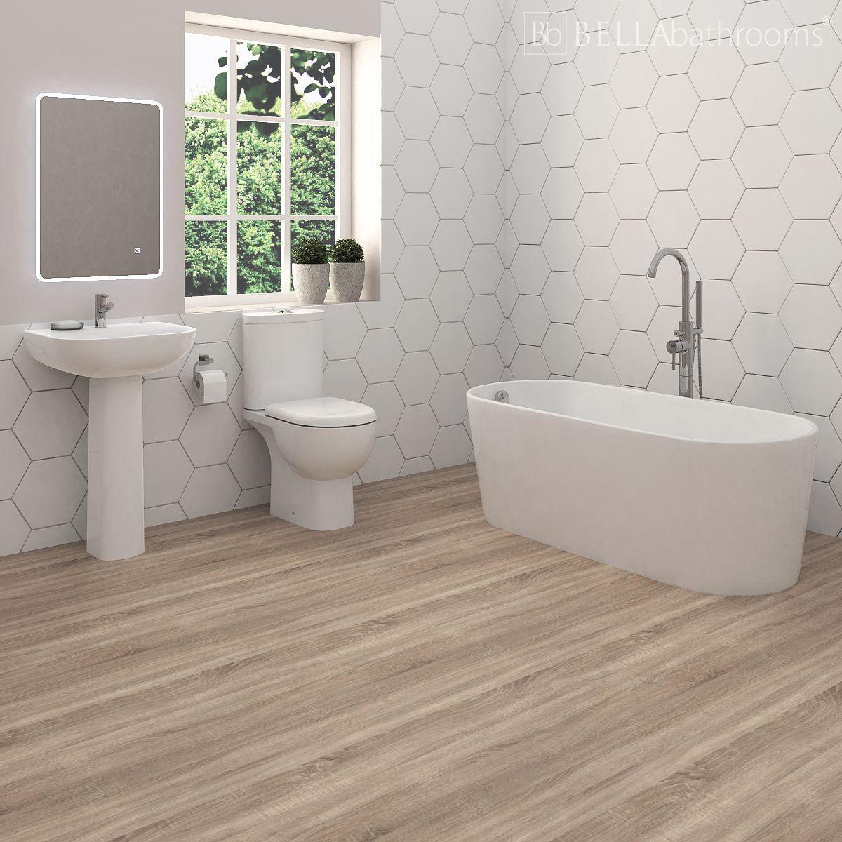 Rak Tonique Bathroom Suite With Brearton Freestanding Bath Bathroom Suites Uk Bathroom Suite Free Standing Bath