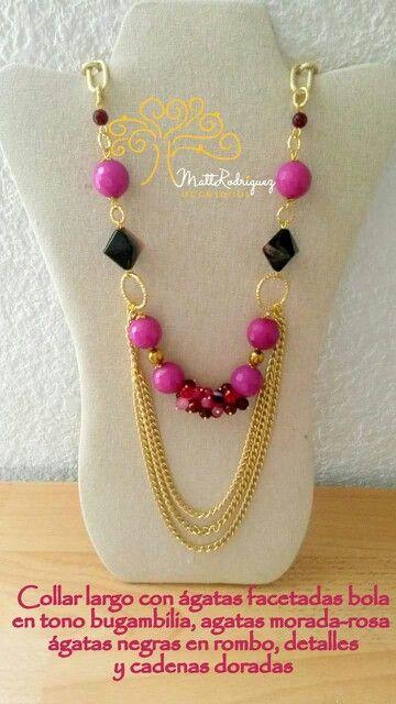 7ecf22528b9f Agatas rosas Collar De Flores