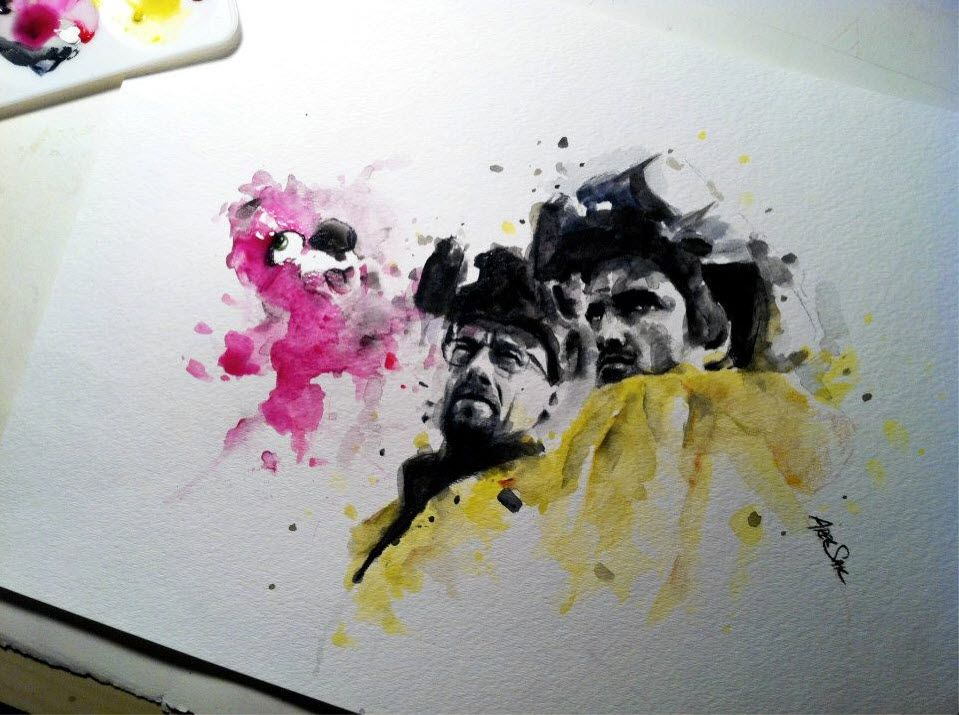 Breaking Bad Watercolor By Arek On Deviantart And Reddit