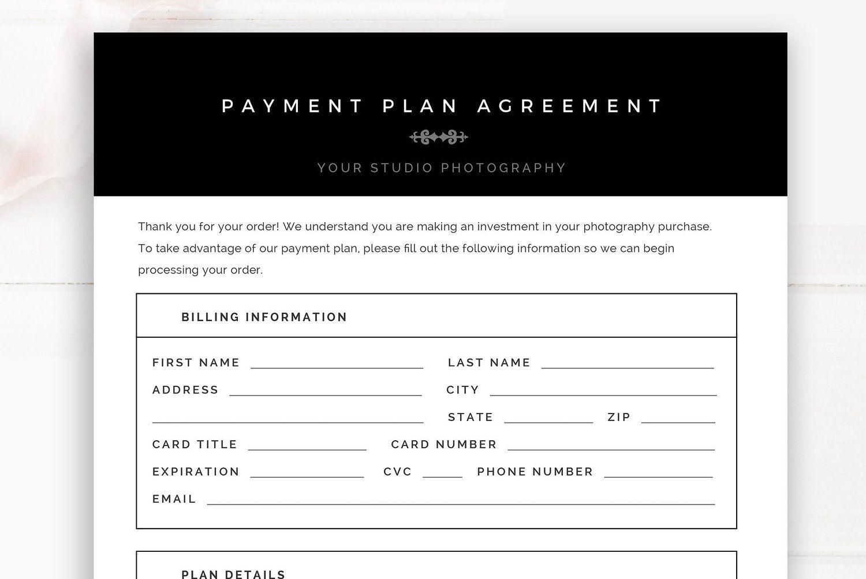 Photographer Payment Plan Template, Photographer Business