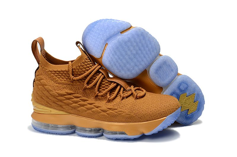 promo code 57771 90cc2 2018 New Arrival New Style Nike LeBron 15 Mens Basketball Shoes Sneakers  Cadmium Yellow White