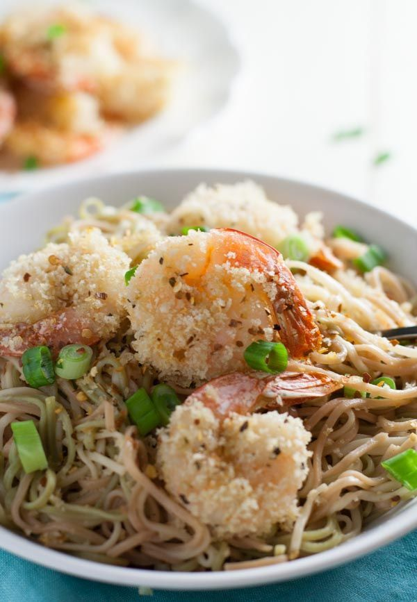 Oven Fried Bang Bang Shrimp Pasta  | http://WorldofPastabilities.com