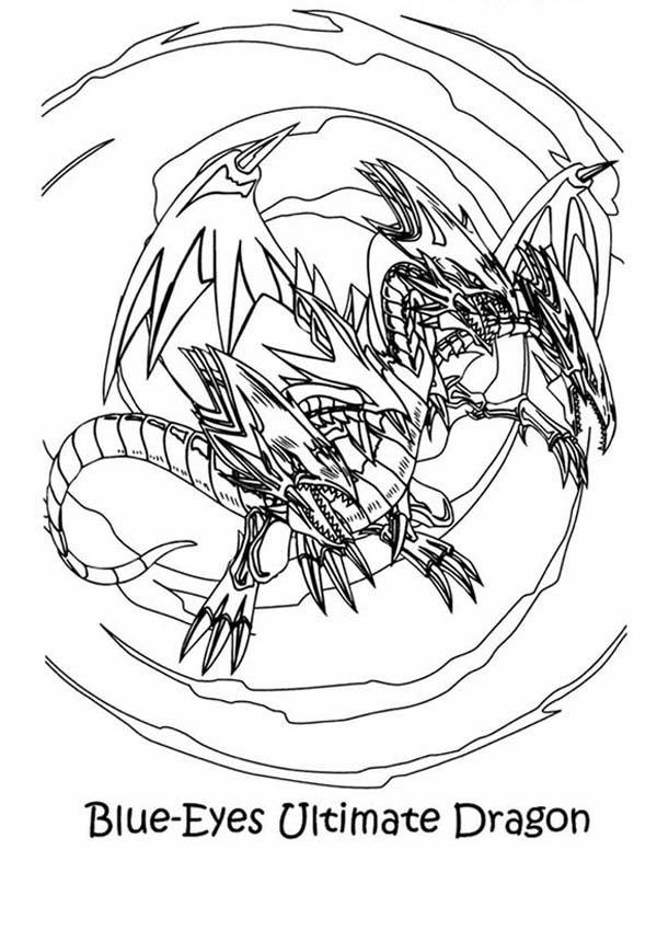 Blue Eyes Ultimate Dragon Yu Gi Oh Coloring Page Netart Dragon Coloring Page Coloring Pages Cartoon Coloring Pages