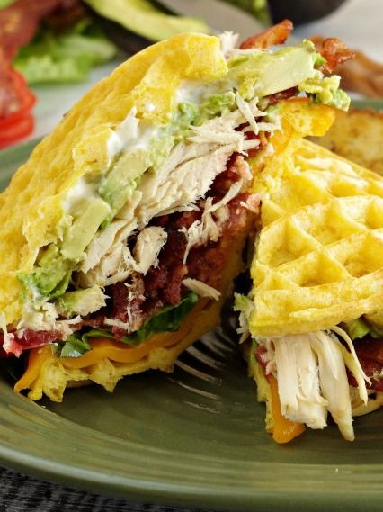 BLTA Waffle Sandwiches—avocados add an extra layer of flavor to a traditional sandwich!