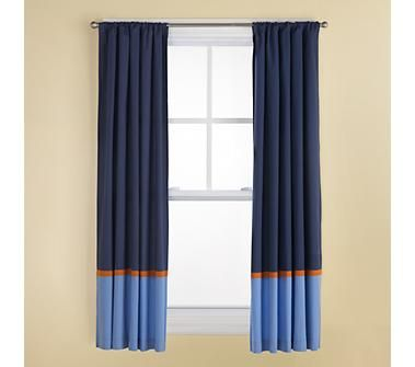 Kids Curtains Kids Navy And Light Blue Curtains With Orange Trim Kids Curtains Light Blue Curtains Navy Blue Curtains