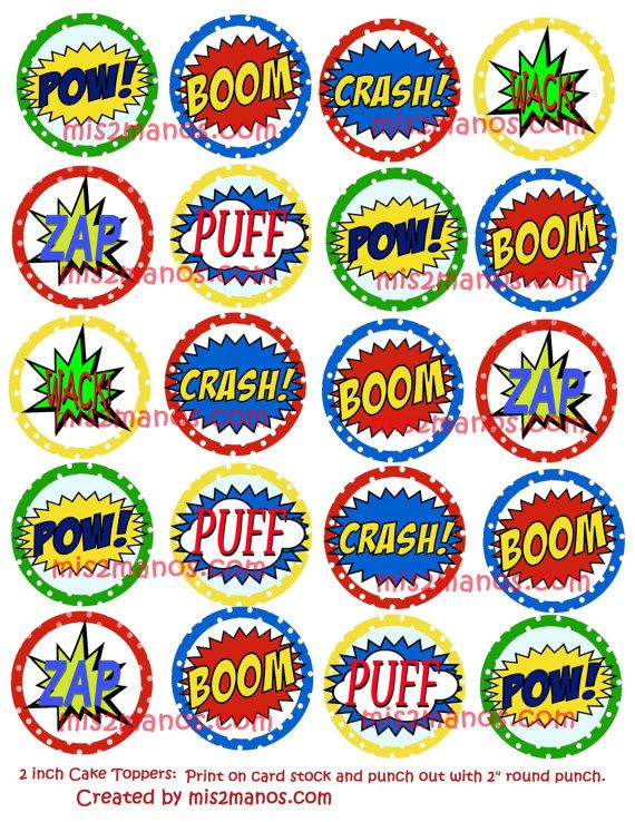 Printable Comic Book Action Bubbles - Timebizzybeesevents \u2022