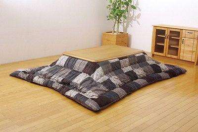 Japanese Kotatsu Futon Comforter Square 205x205cm Foot Warmer