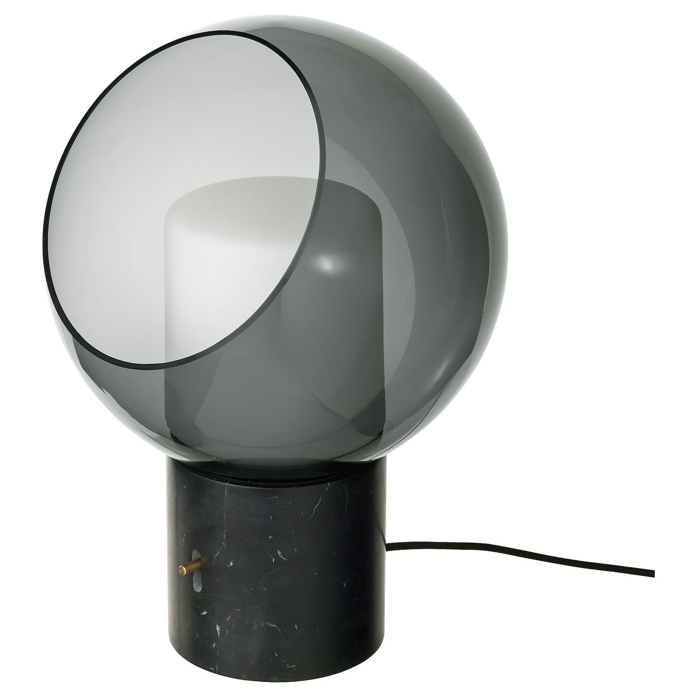 Evedal Table Lamp Marble Gray Gray Globe Globe In 2020 Table Lamp Ikea Table Lamp