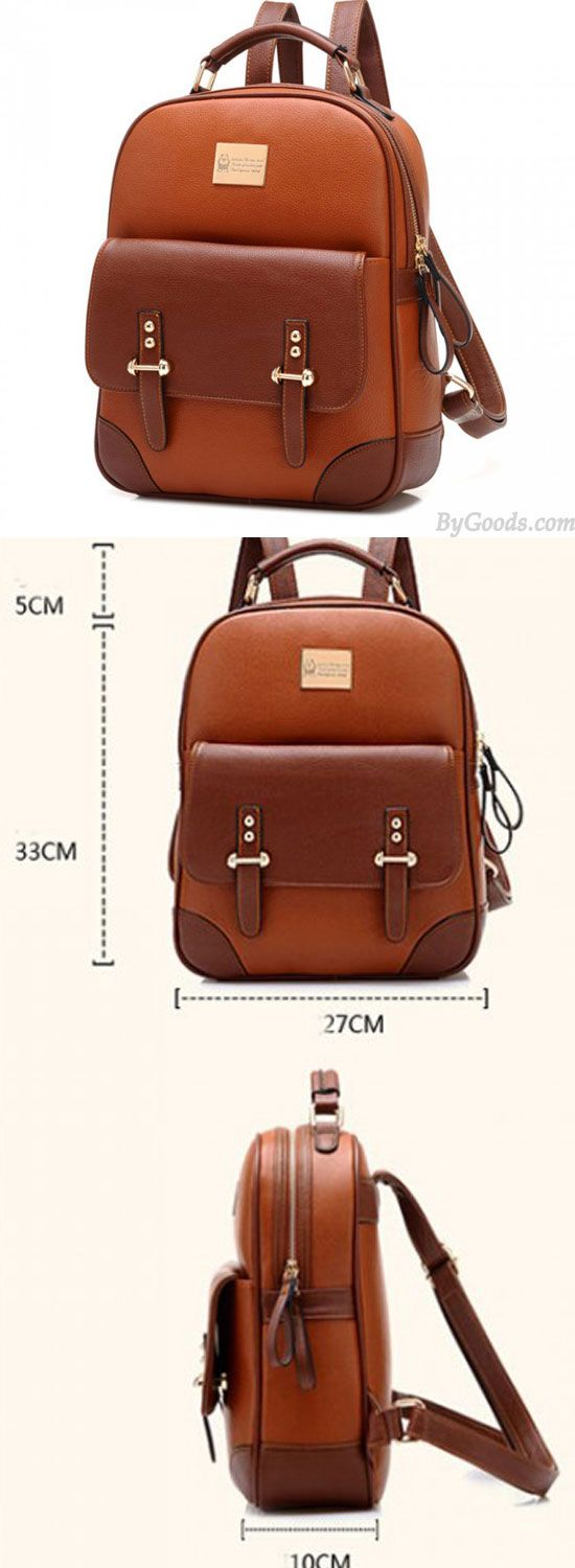 New British Style Vintage Leather Backpack for big sale! #Backpack #british #bag #college #student #backpacks