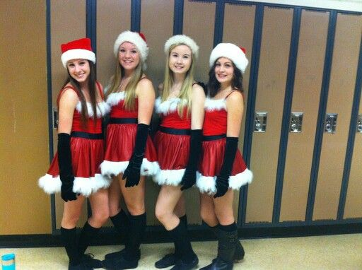 Halloween Mean girls homemade costume Santa's elves you cant sit with us  jinglebell cady karen regina gretchen october - Halloween Mean Girls Homemade Costume Santa's Elves You Cant Sit