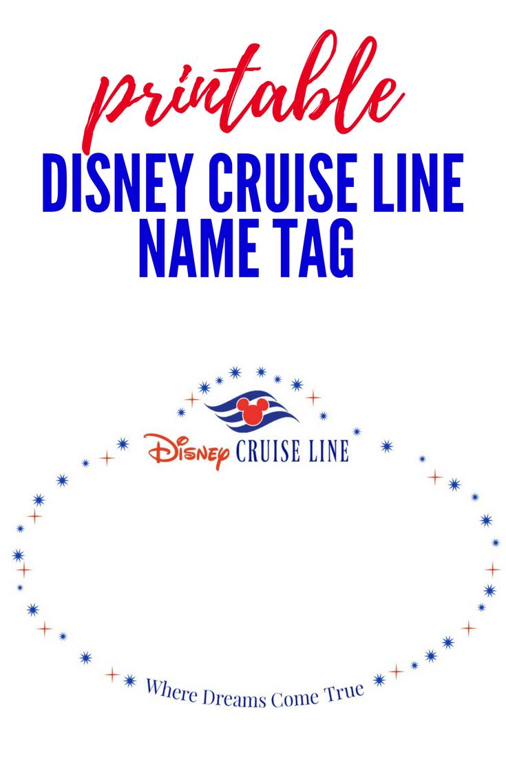 Printable Disney Cruise Line Name Tag Disney Cruise Line Disney Cruise Disney Cruise Door [ png ]