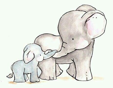 Amor de madre. Elefantes