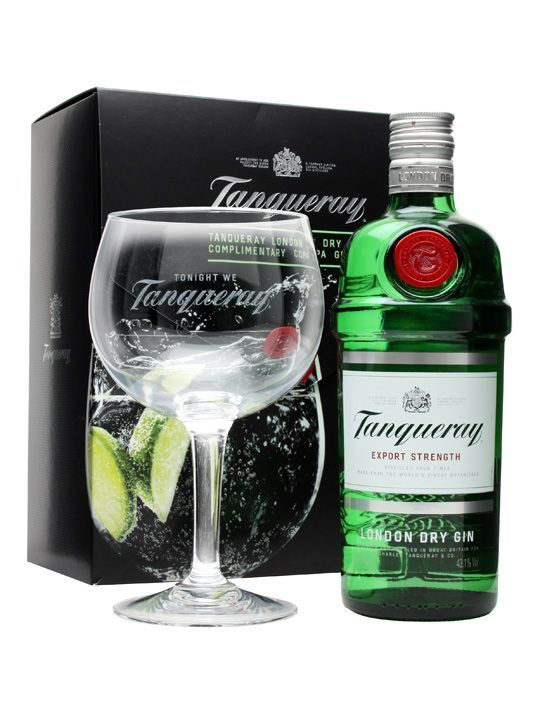 A Gift Pack From Tanqueray Pairing Up Their Excellent Export Strength Gin With Large Copa Gl It S Perfect For Constructing Spanish Style G T Just