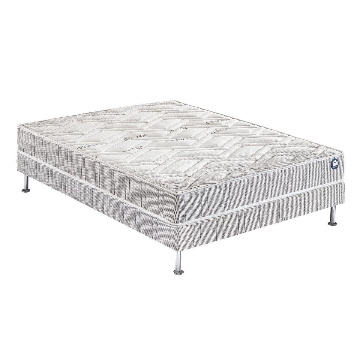 Simmons Extension Ensemble Matelas Et Sommier Pieds Autres Blanc Et Gris 160x200 2020 Mattress Furniture Bed