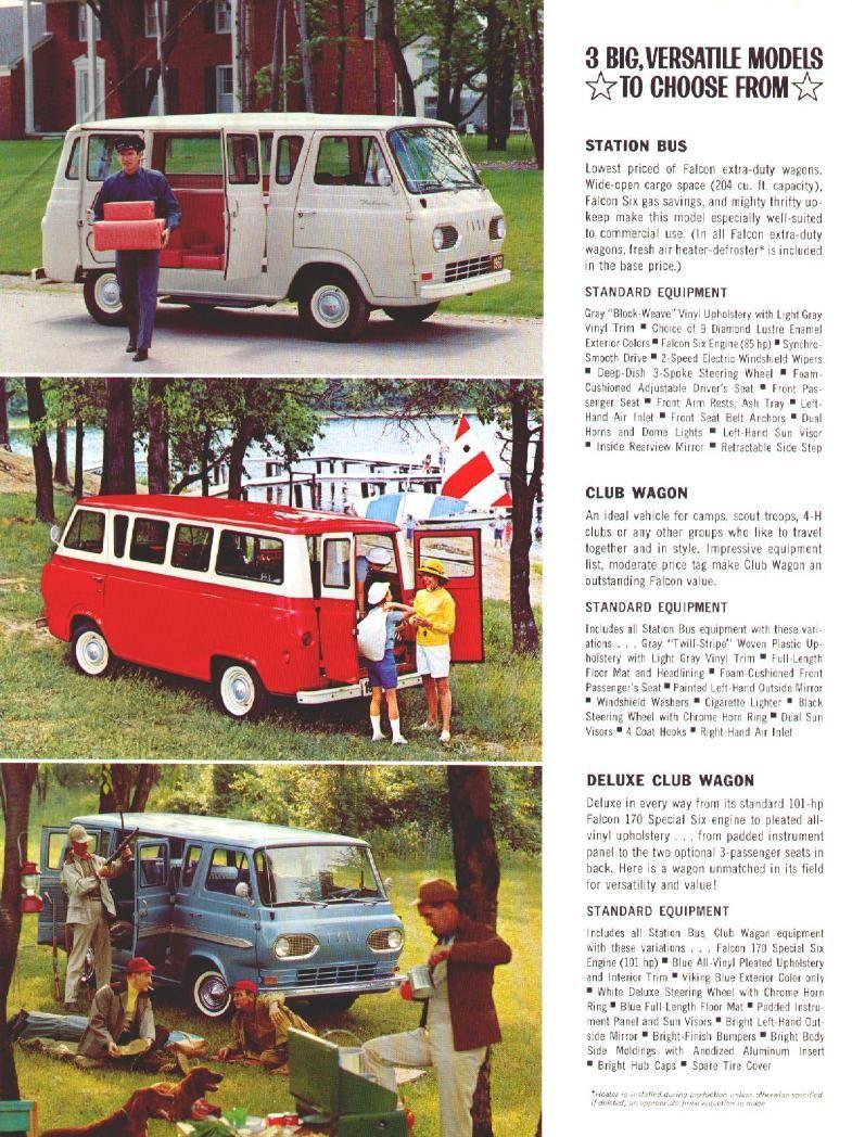 Directory Index Fmc Trucks Vans 1963 Trucks Vans 1963 Ford Falcon Van Brochure Ford Falcon Ford Van Ford