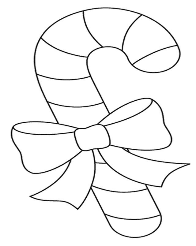 Candy Cane Small And Cool Coloring Pages | Candy cane ...