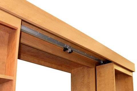Track System For Sliding Bookcase