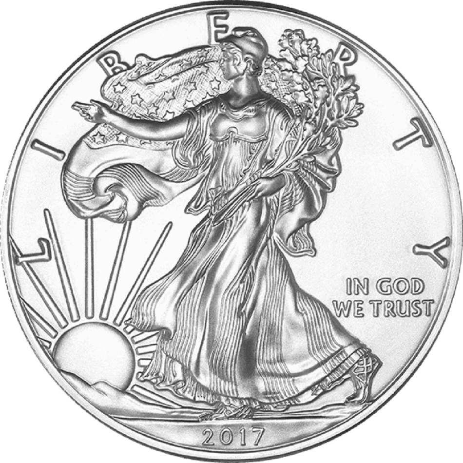 2017 1 Oz Silver American Eagle Bu Add Tangible Assets To Your Investments Or Collection With Th Silver Eagle Coins American Silver Eagle Silver Bullion Coins