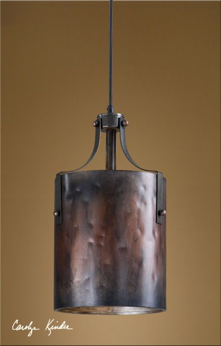 Rustic Tuscan Western Brown Copper Akron Mini Pendant Light Fixture