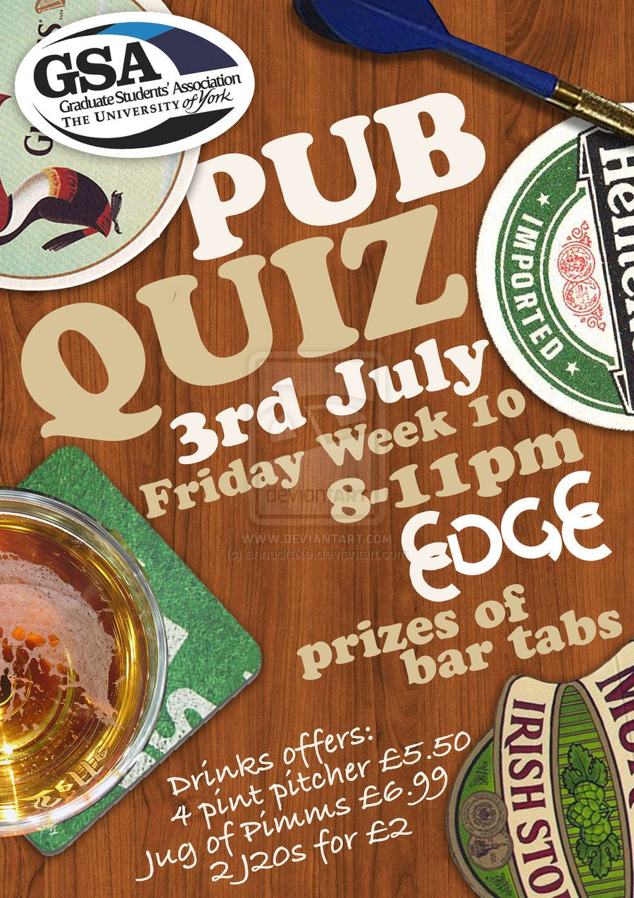 Poster design for quiz - Find This Pin And More On Pub Quiz By Adesignrobot