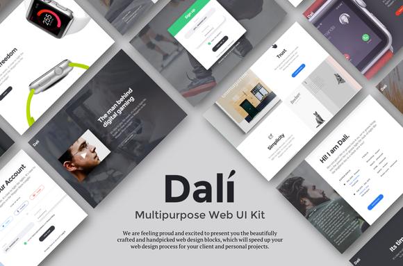 Dali - Multipurpose Web UI Kit by hemant0378 on @creativemarket