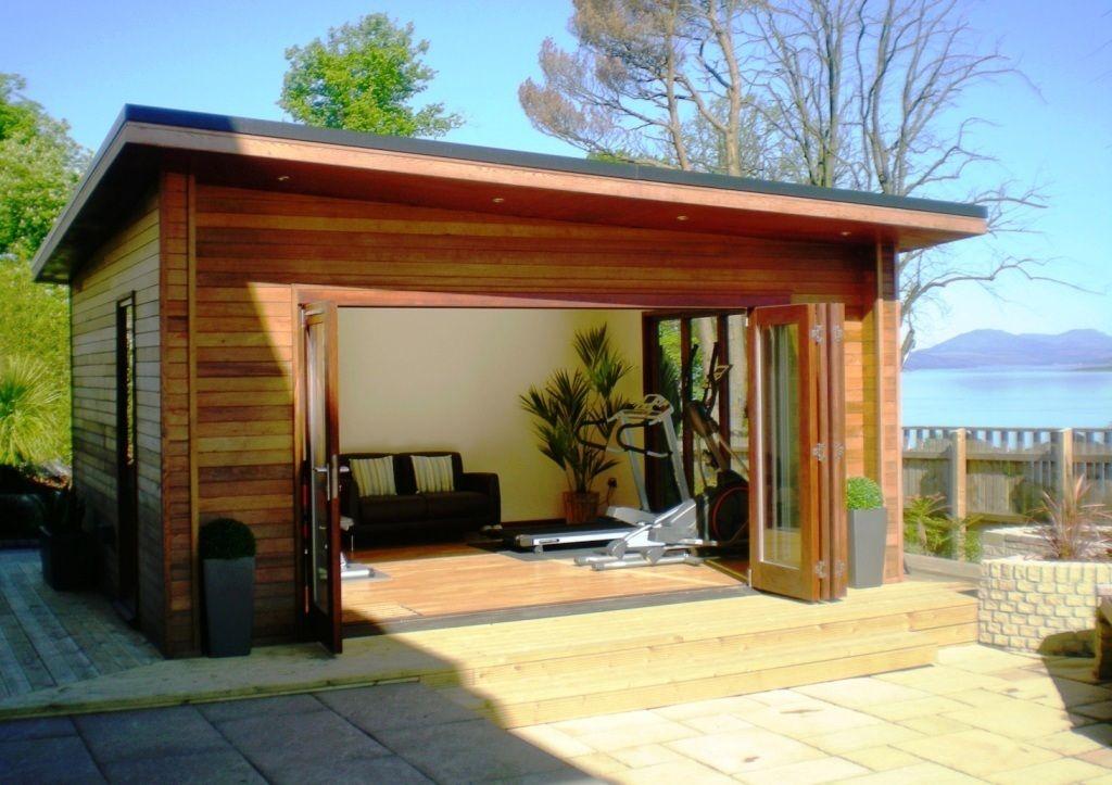 Outdoor garden gym modern outbuilding garden pinterest for Container maison 974
