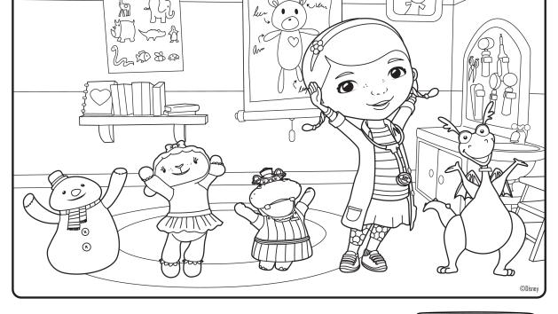 We Have A Diagnosis Disney Junior Doc Mcstuffins Coloring Pages Disney Coloring Pages Free Coloring Pages