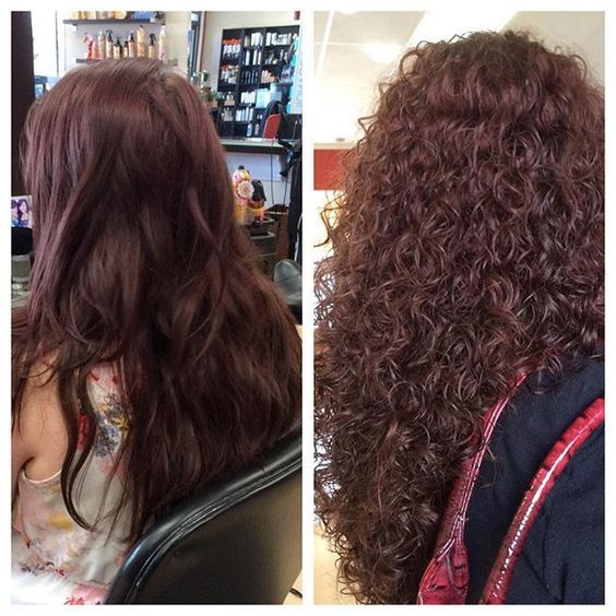 Very Pretty Spiral Perm Before And After Long Hair Perm