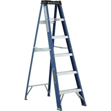 Louisville Ladder 6 Fiberglass Ladder Walmart Com Step Ladders Ladder Fiberglass