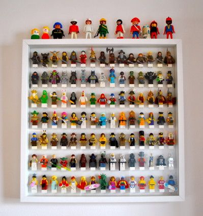 rangement figurines lego chambre gab pinterest figurine lego lego et figurine. Black Bedroom Furniture Sets. Home Design Ideas