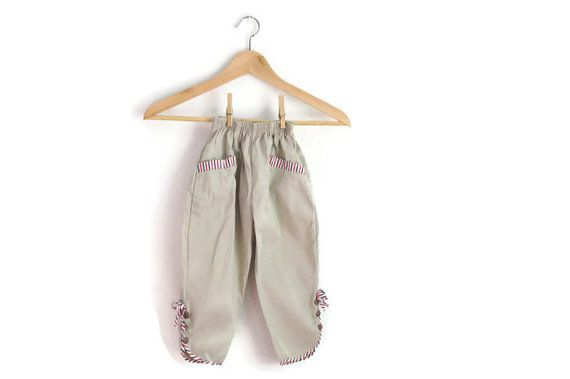 Toddler Girls Trousers/Pants Vintage 70s by WillowsRoom on Etsy