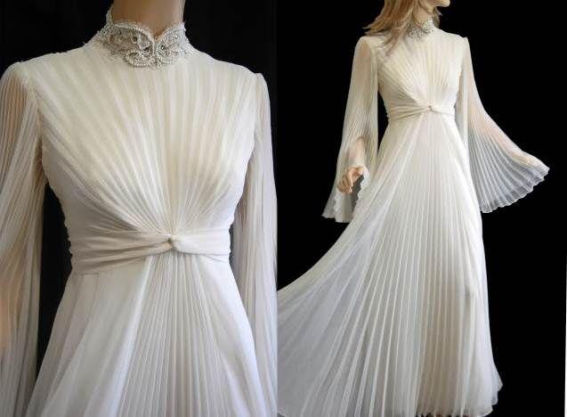 Pilesel Beyaz Tesettur Abiye Elbise Gelinlik Elbise Elbiseler