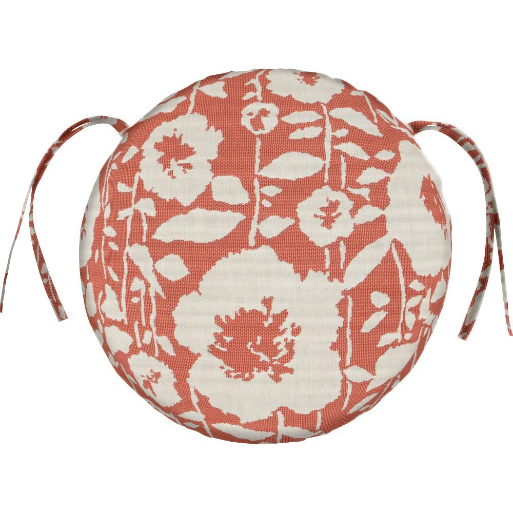 Home Decorators Collection Sunbrella Andy   Guava Round Outdoor Seat Cushion