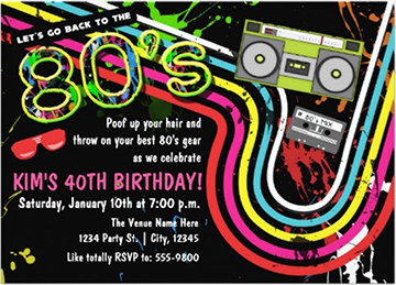 80s Party Invitations 80s party 80s party themes and Party