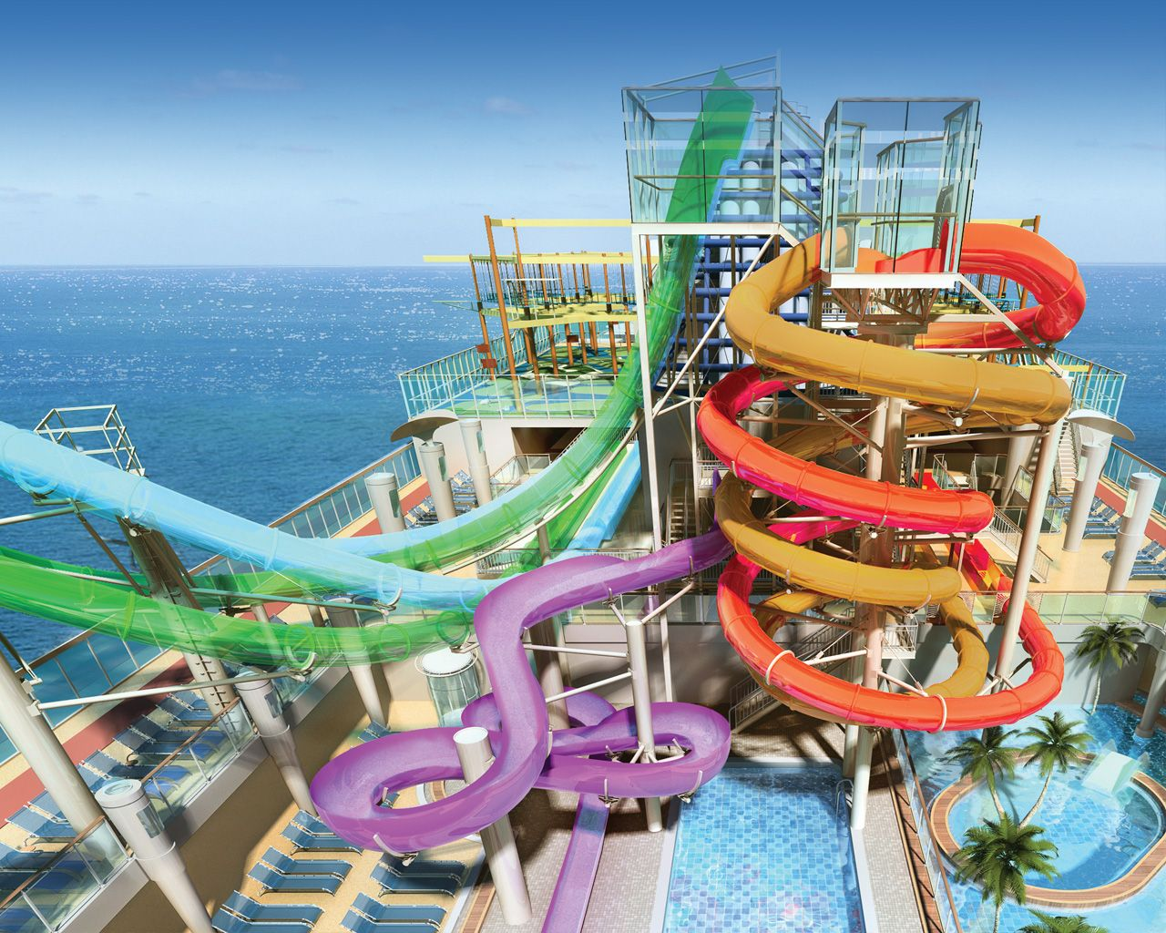 Norwegian Getaway Water Park Images Google Search - Roller coaster on a cruise ship