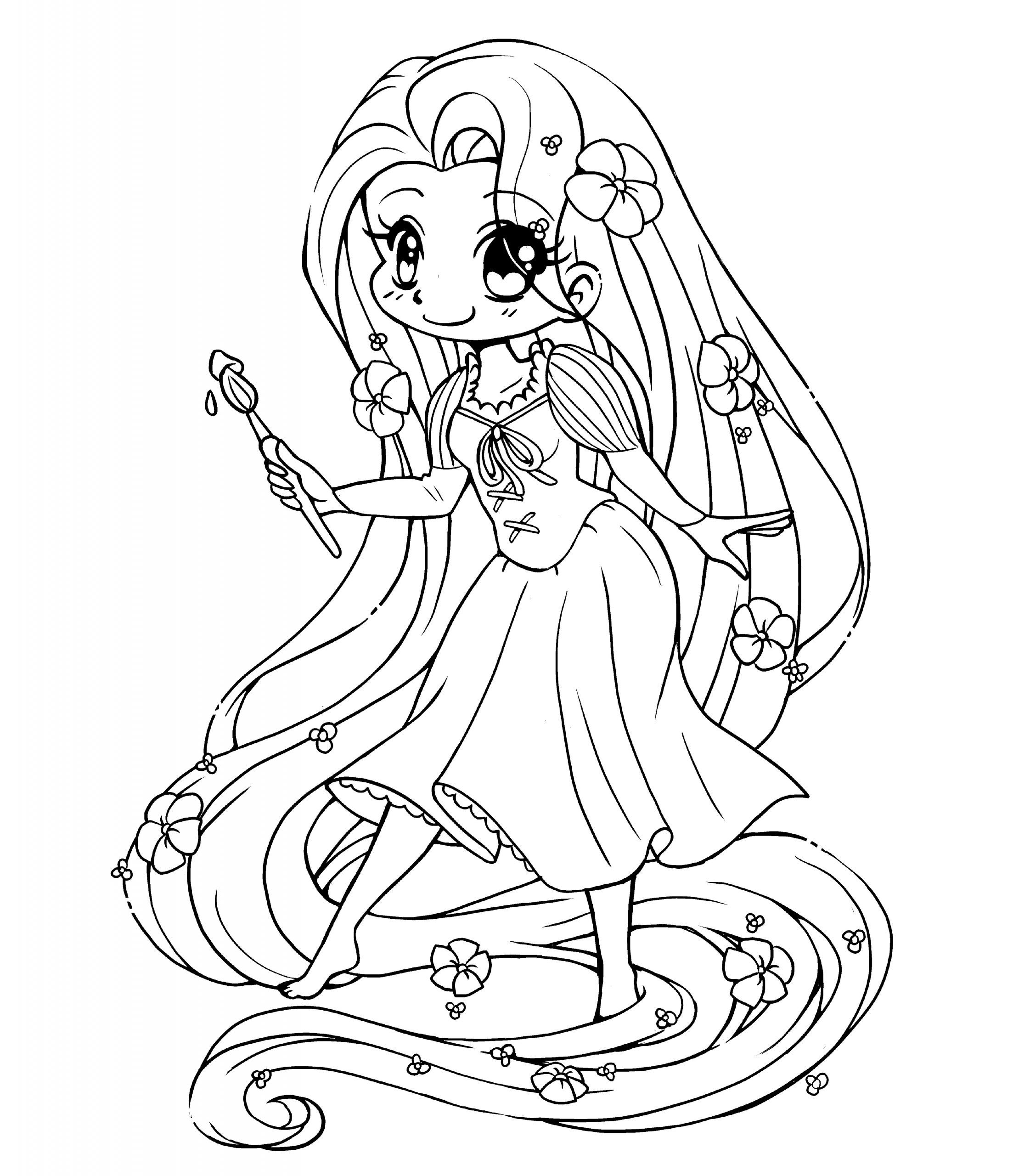 Tangled Rapunzel Color Pages Printable In 2020 Chibi Coloring Pages Disney Princess Coloring Pages Princess Coloring Pages