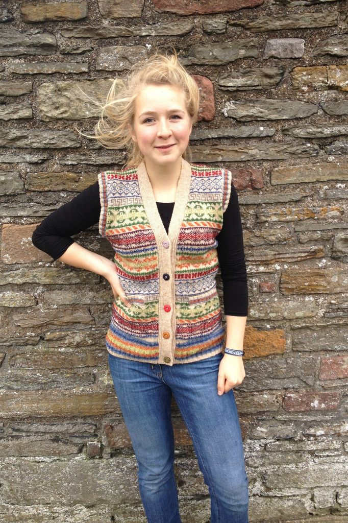 Rackwick Fair Isle Waistcoat – Designed by Judith Glue and made in ...