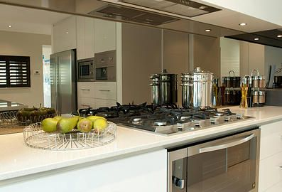 Bronze Or Grey Tint Splashback Kitchen Kitchen