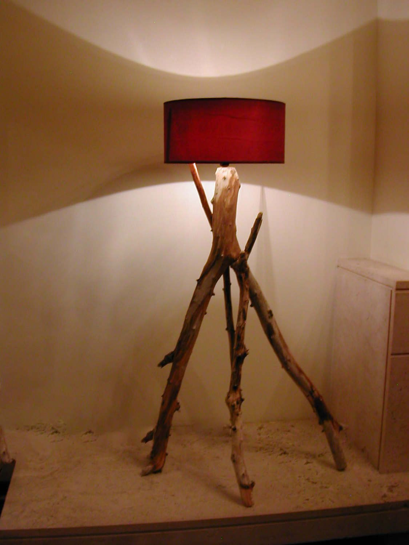 Driftwood Floor Lamp Decor Lighting Beach Coastal Home