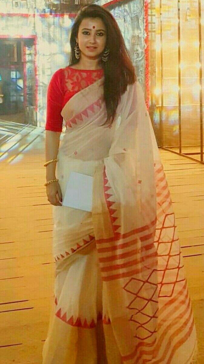 Saree blouse design for cotton saree cotton saree in bengali style beautiful indianfashion saree
