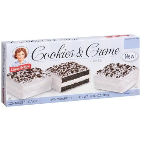 Little Debbie Cookies and Creme Cakes, 10 count, 12.39 oz